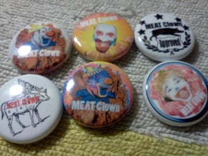 Image of 950-968 MEAT Clown Brand Button Sampler Pack of 5