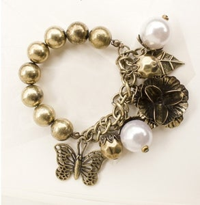 Image of Pearl Alloy Bracelet For Women