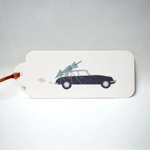 Image of 12 Christmas Citroen Gift Tags