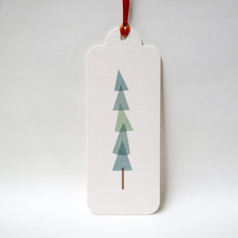Image of 12 Christmas Pine Gift Tags