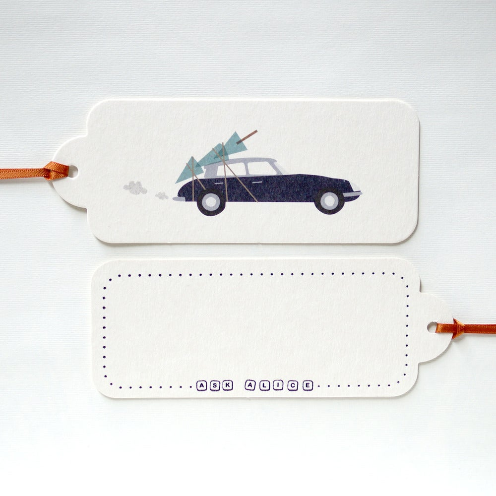 Image of 12 Christmas Citroen Gift Tags
