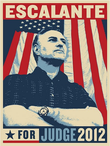 "Image of ""JUDGE"" Limited Edition Silk Screened Poster by Shepard Fairey (Signed by Joe Escalante)"