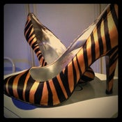 Image of Jessica Simpson Satin Tiger Print Pumps