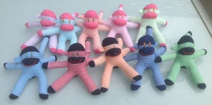 Image of Baby Sock Monkeys
