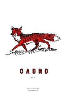 Image of  fforest cymraeg prints: cadno (fox)
