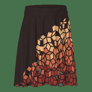 Fall Penrose Print Skater Skirt