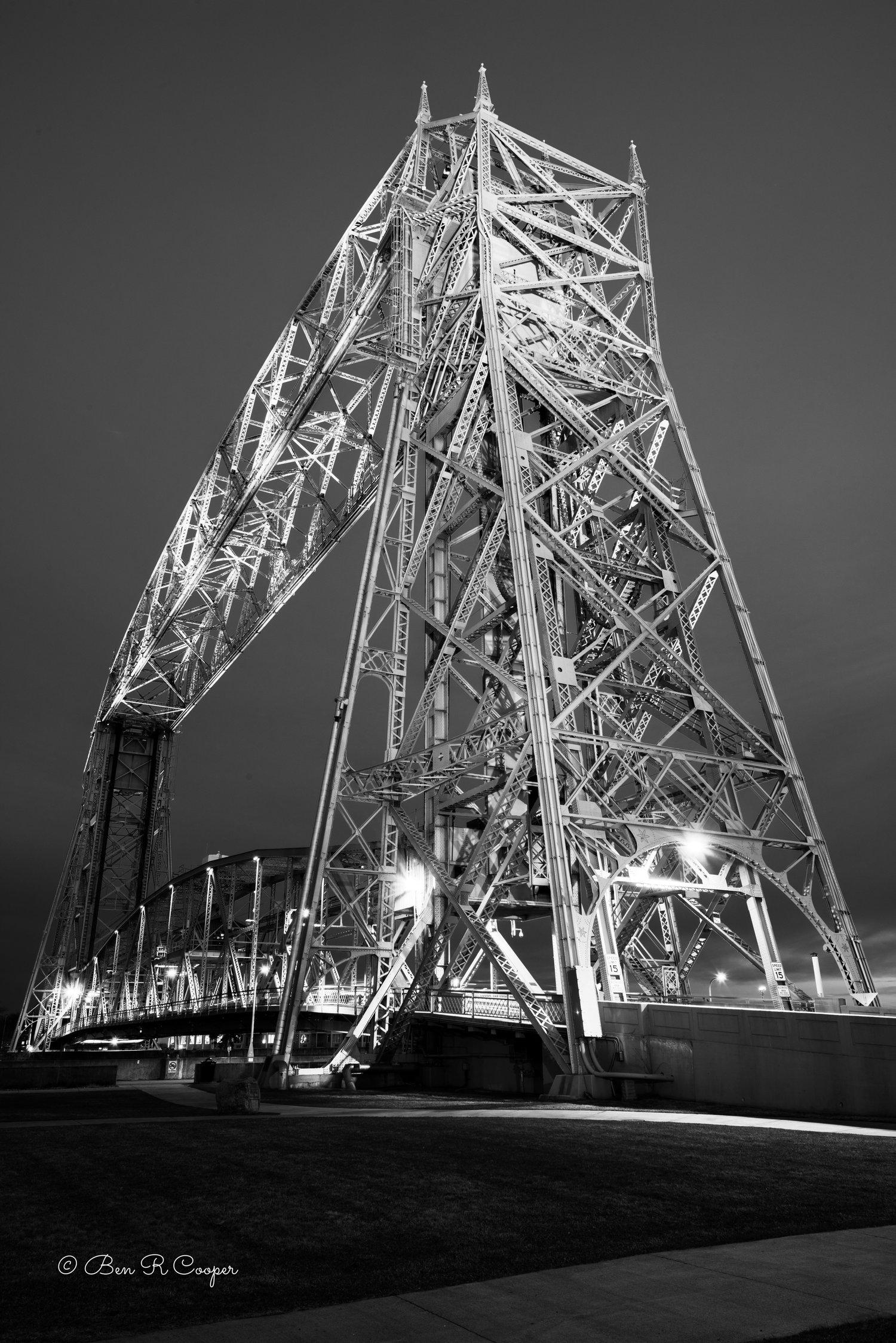 Duluth Liftbridge In Black And White