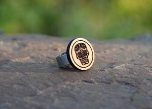 Image of Wood Dia de los Muertos Ring