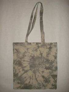 Image of tie-dye cotton tote bag