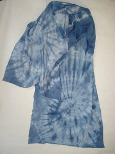 Image of tie-dye jersey cotton scarf