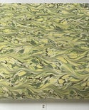 Marbled Paper Slate & Lemon Fabriano CMF Ingres - 1/2 sheets