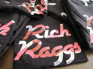 Image of Black Rich Raggs Death Of Camo Big Camo Red/Pink/Grey/White