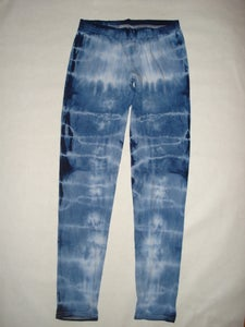 Image of tie-dye cotton blend leggings