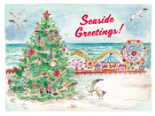 Image of Christmas Tree on Boardwalk Card