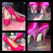 Image of STEVE MADDEN DAZZLED HOT PINK PLATFORMS