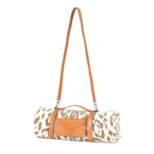 Image of Natural Jaguar Hide Beach Towel - Crossbody Strap