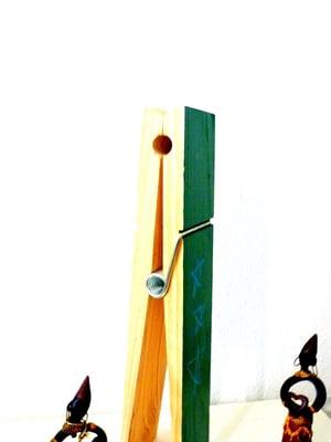 chalked wooden peg (large)