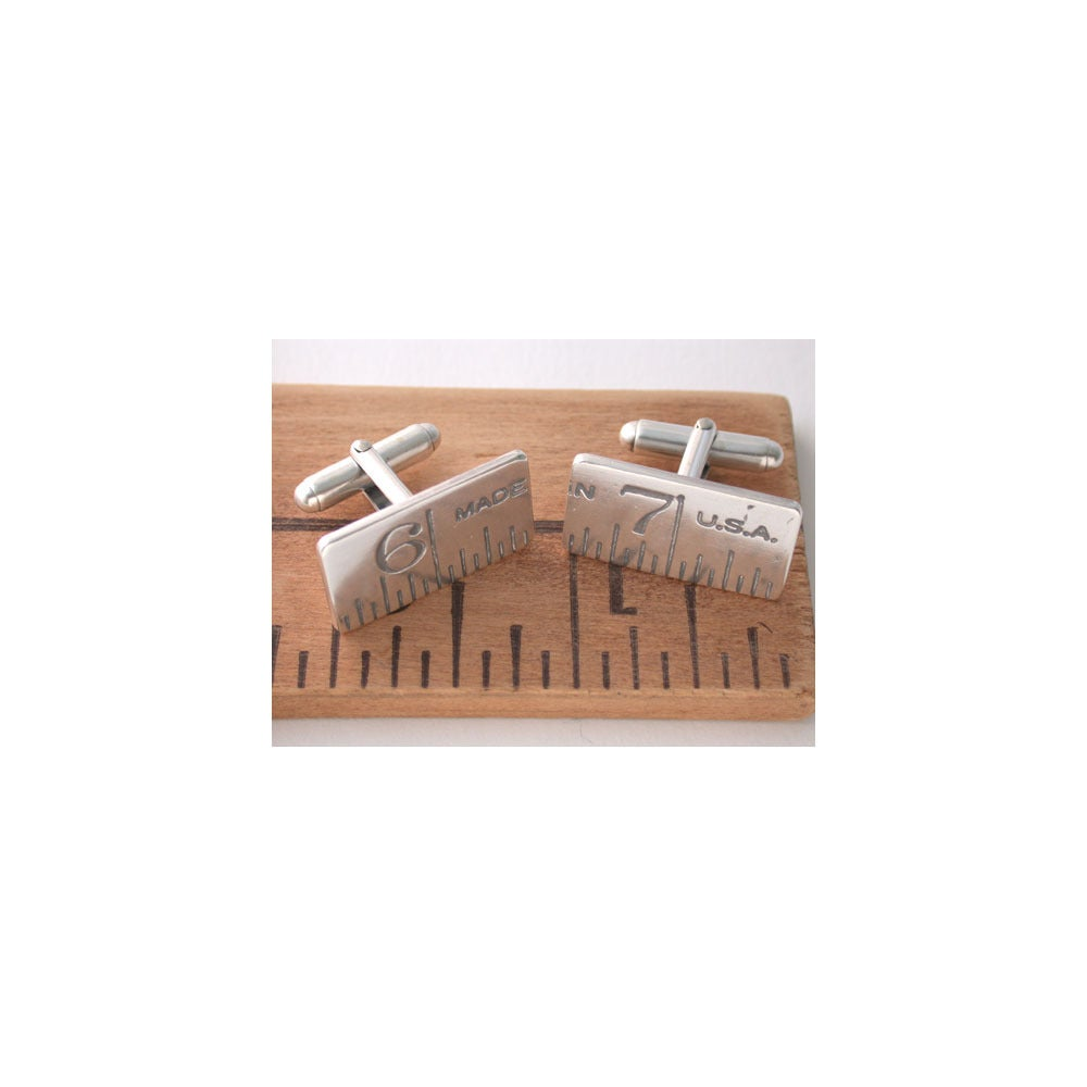 Image of ruler cufflinks