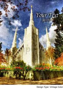 Image of Portland Oregon LDS Mormon Temple Art Sale 002 - Personalized LDS Temple Art