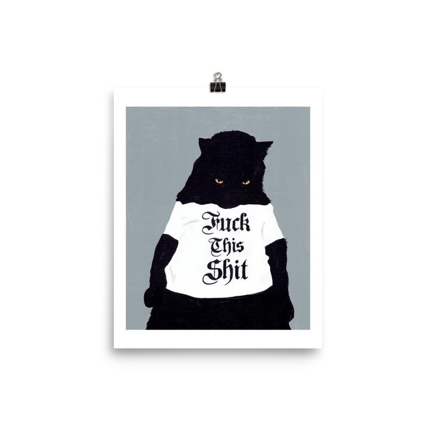 Image of CAT FTS TSHIRT POSTER