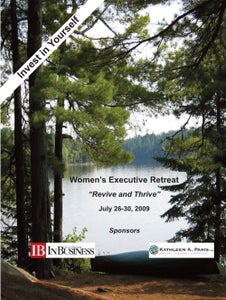 Image of Women's Executive Retreat: 2009 Participant Binder