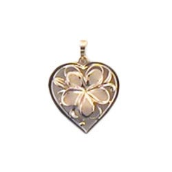 Image of Flower Heart Pendant