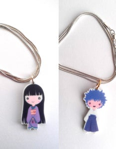 Image of Hakama Boy/Zashiki Warashi Necklace