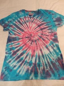 Image of pink and blue swirl tee