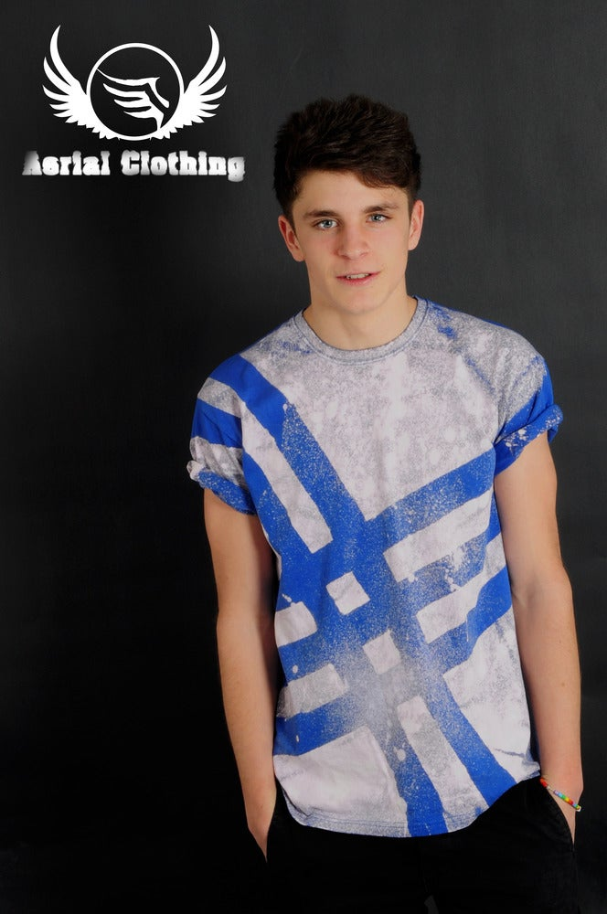 Image of Blue Striped T Shirt