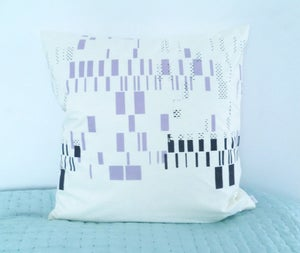 Image of Cushioncover - Purple/Brown print