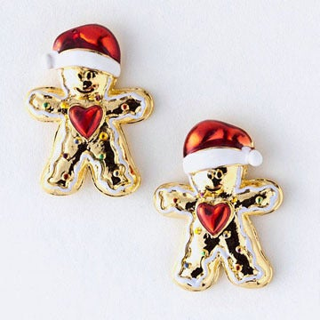 Image of Gingerbread Man Stud Earrings