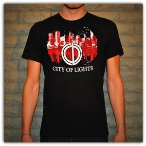 Image of Graphic Tee - Black w/Red City