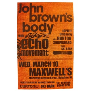Image of Autographed Tour Poster: Maxwells w/ JBB