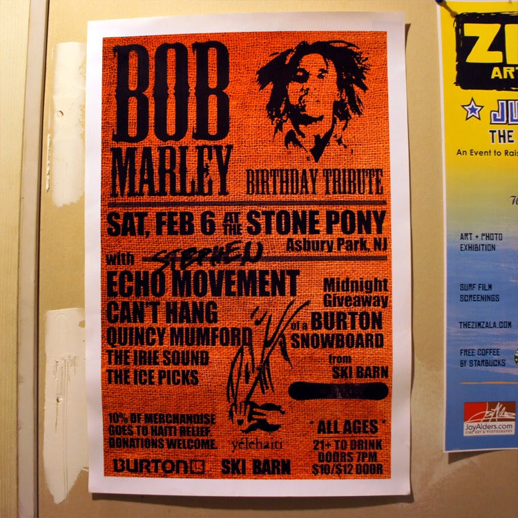Image of Autographed Tour Poster: Marley Tribute @ Stone Pony