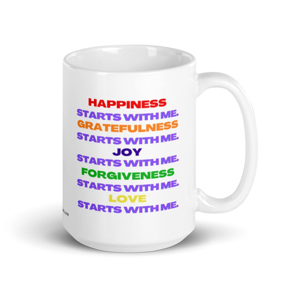 Image of It All Starts With Me Mantra Mug (color)