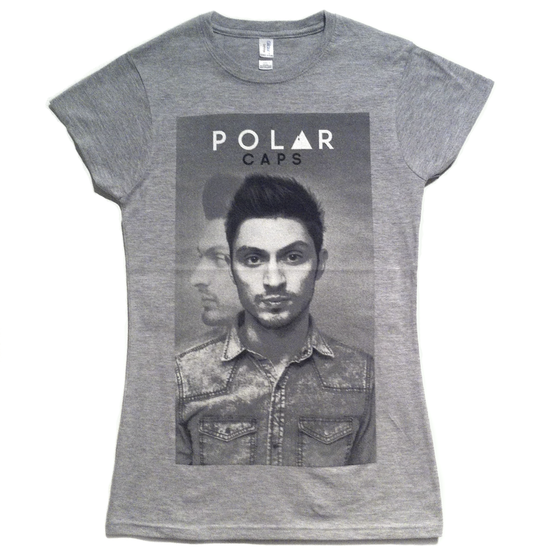 Image of Polar Caps 'Portrait' Girls Tee (Sports Grey)