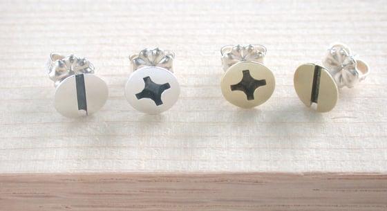 Image of large screw earrings