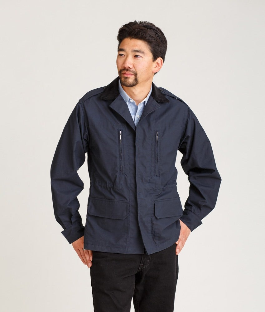 Image of F1 M1980, Field - Dry Waxed Cotton in Navy
