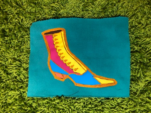 Image of Victorian Shoe Fabric Patch