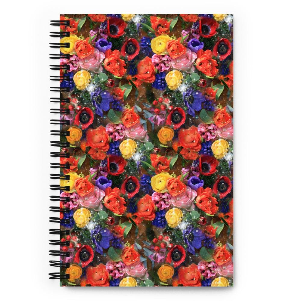 Image of Cosmic Bloom Spiral Notebook
