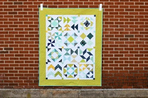 Image of Half-Square Triangle Sampler Quilt PDF Pattern