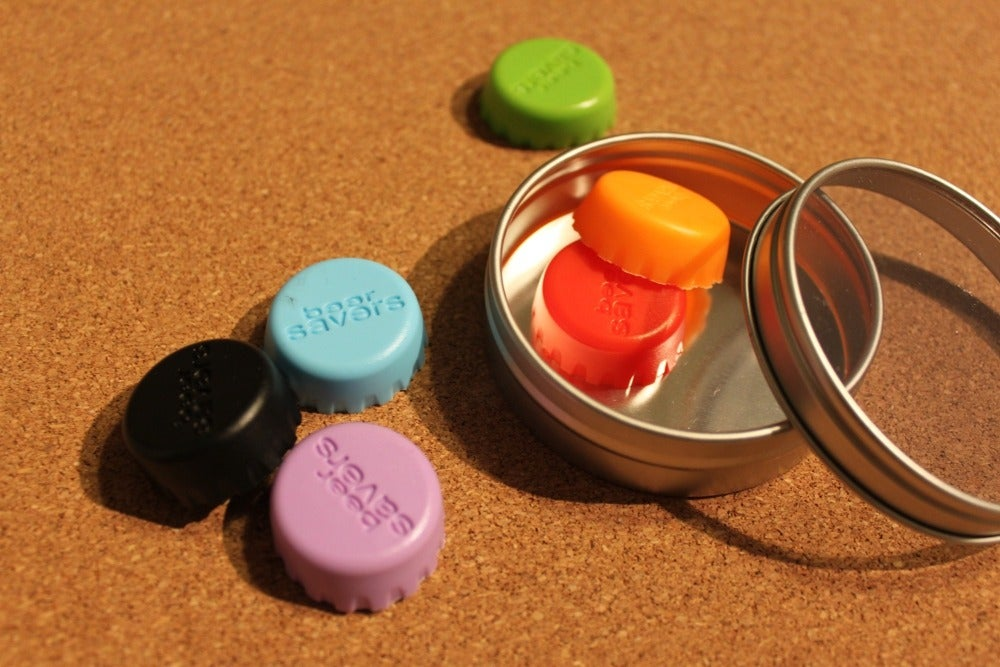 Image of Beer Savers - reusable silicone lids to re-cap your brew