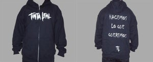 Image of Tinta Leal 'Logo' Zip Hoodie - SOLD OUT