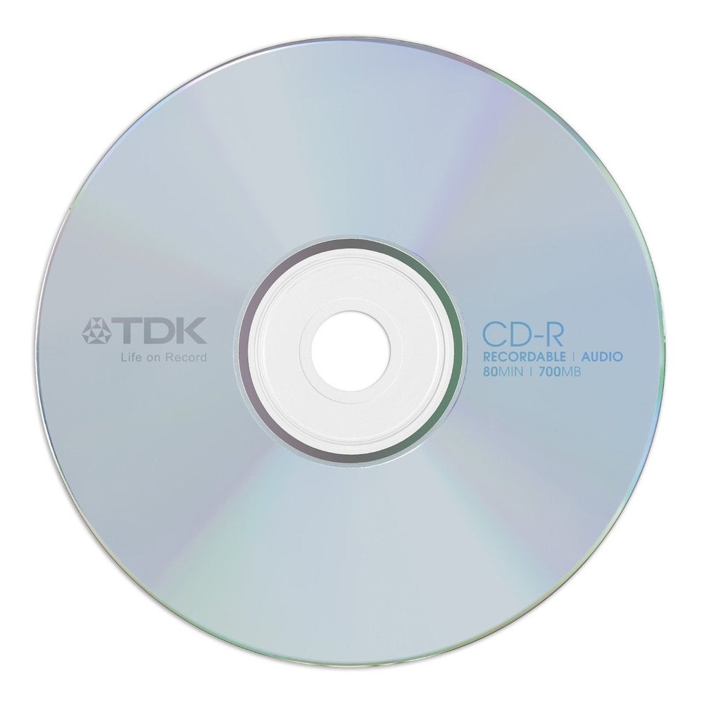 Image of 10 CD-R 700Mo 80Min boitier crystal TDK