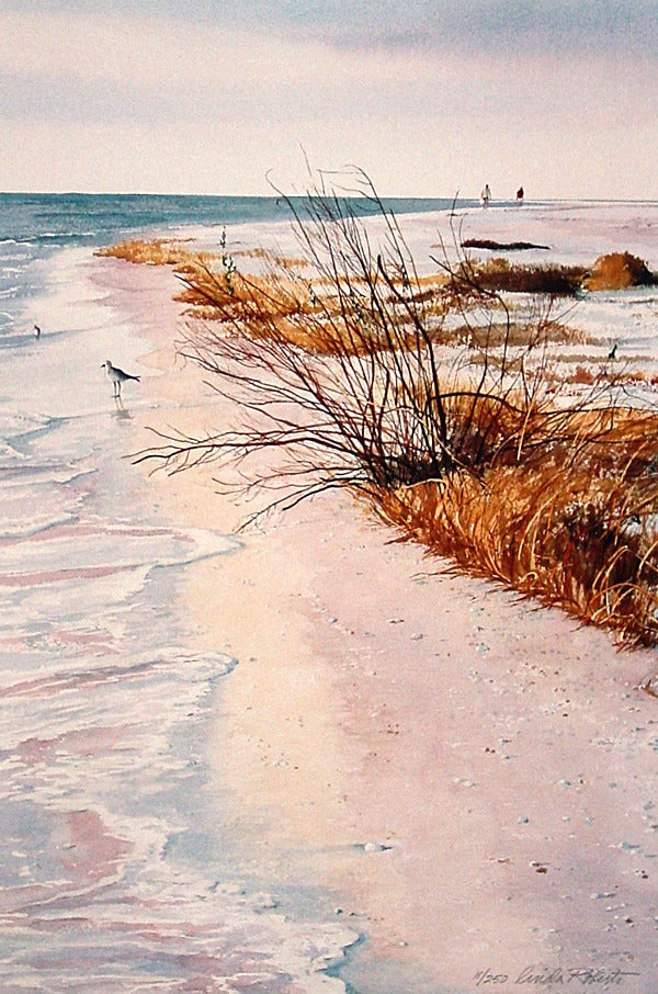 Image of Tigertail Beach Giclée on Paper - Large