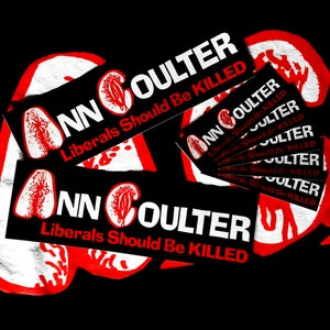 Image of Ann Coulter/Anal C*nt parody stickers