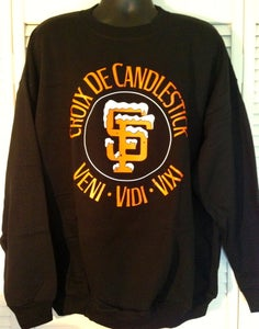 Image of Croix De Candlestick Crewneck Sweatshirt