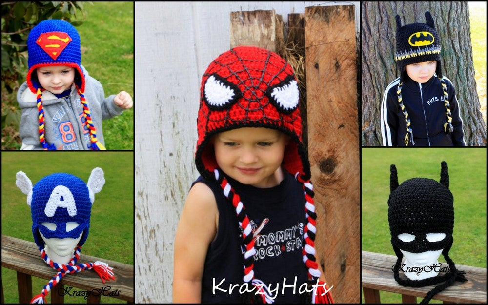 KrazyHats — Crochet SuperHero hats 348ba12ca05