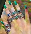 Image 1 of gemstone spinner/fidget rings (around size 9)