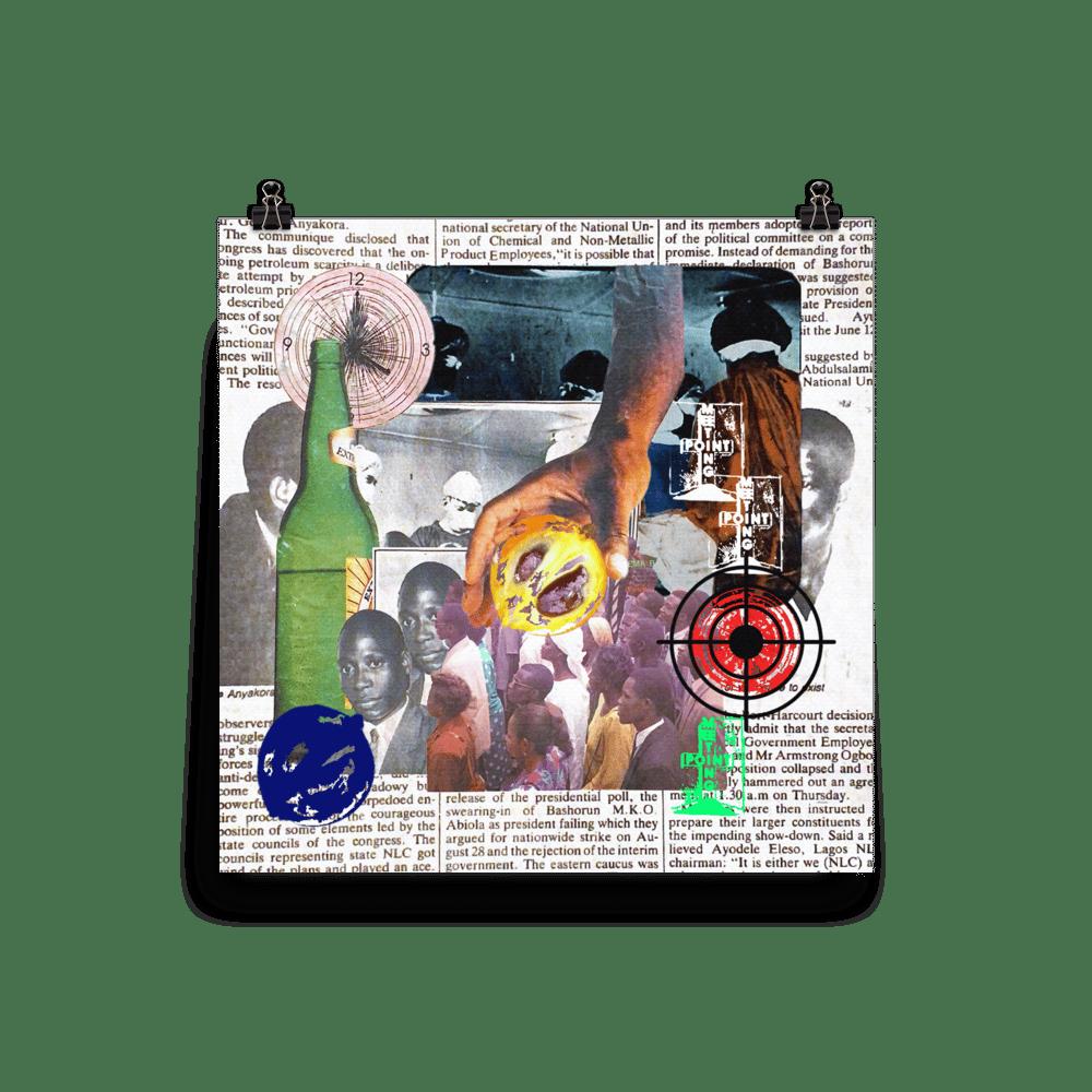 """""""Coup D'etat"""" Collage Print"""